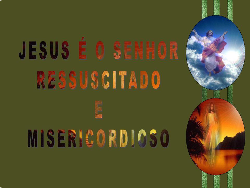 JESUS É O SENHOR RESSUSCITADO E MISERICORDIOSO