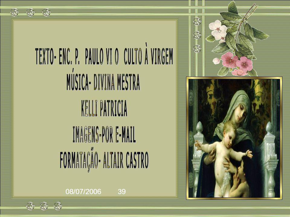 TEXTO- ENC. P. PAULO VI O CULTO À VIRGEM MÚSICA- DIVINA MESTRA
