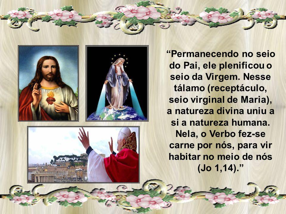 Permanecendo no seio do Pai, ele plenificou o seio da Virgem