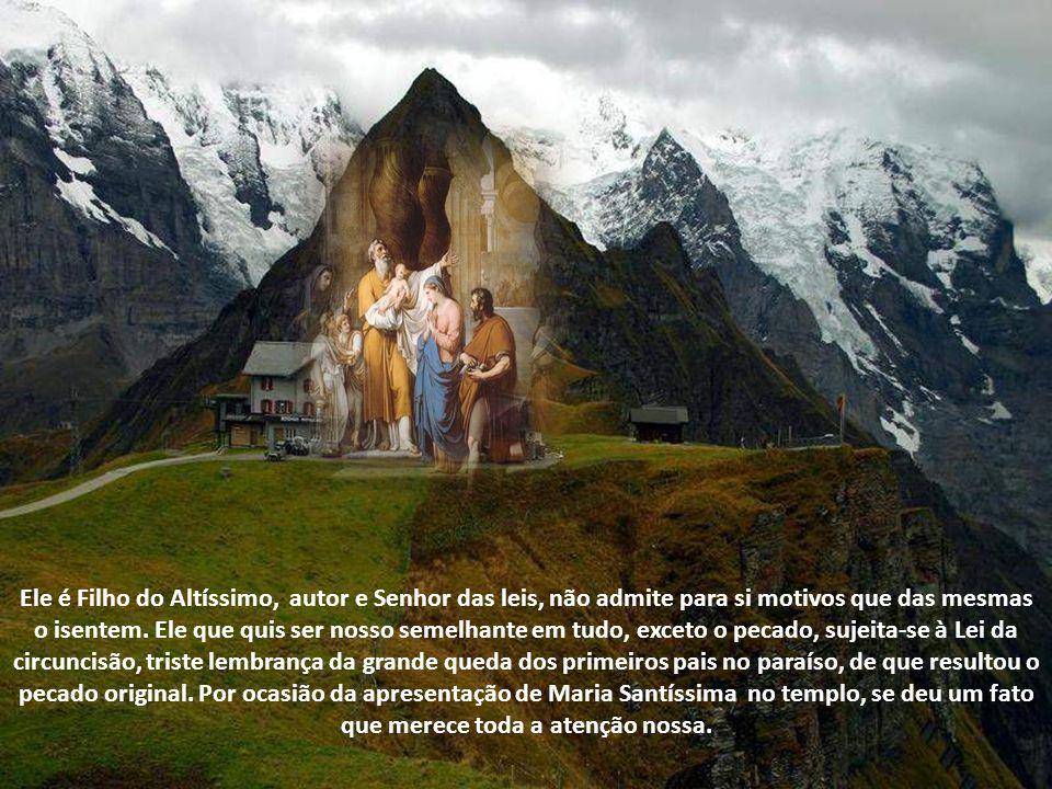 Ele é Filho do Altíssimo, autor e Senhor das leis, não admite para si motivos que das mesmas o isentem.