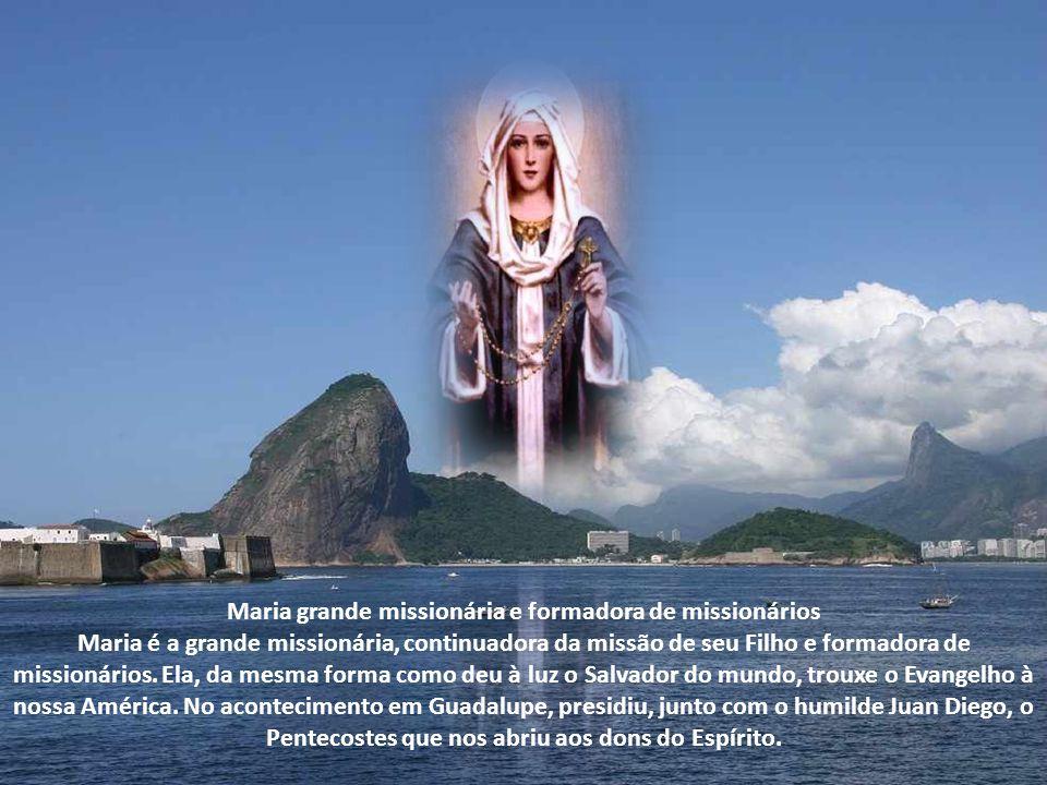 Maria grande missionária e formadora de missionários