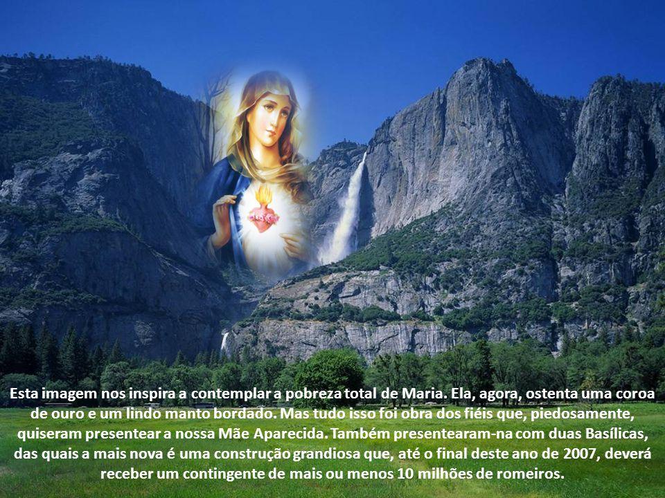 Esta imagem nos inspira a contemplar a pobreza total de Maria