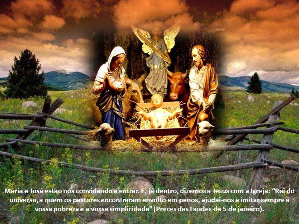 Maria e José estão nos convidando a entrar