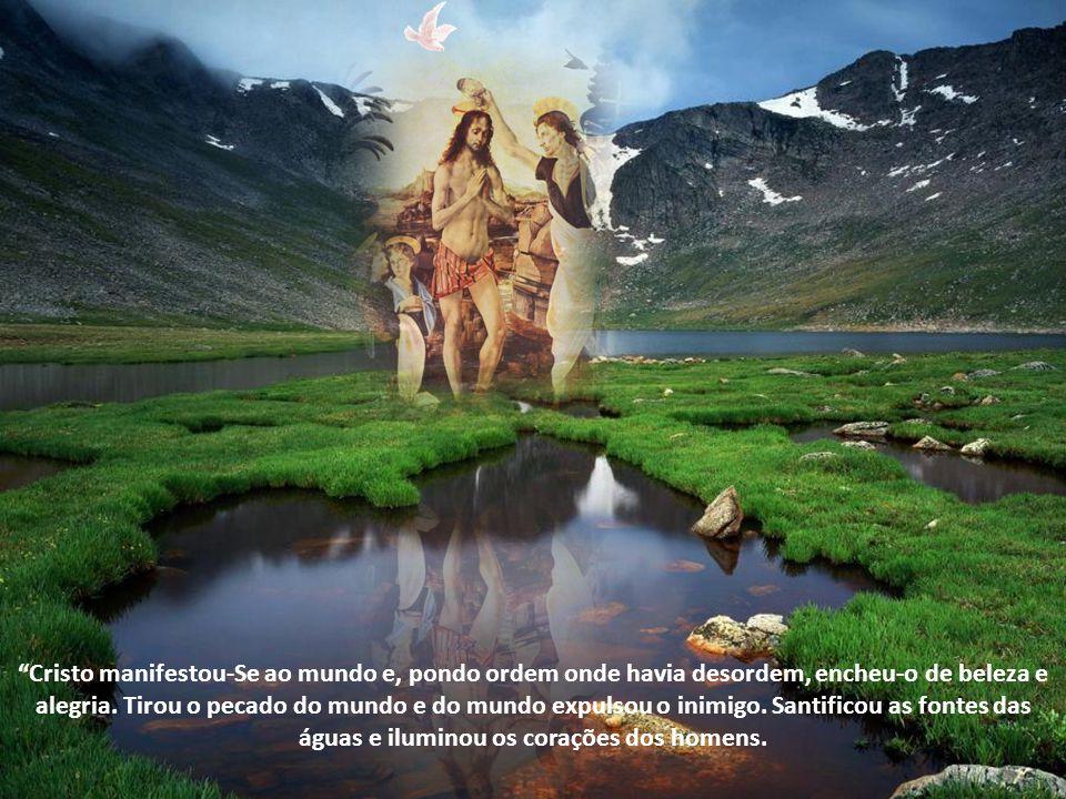 Cristo manifestou-Se ao mundo e, pondo ordem onde havia desordem, encheu-o de beleza e alegria.