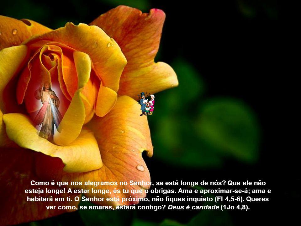 Como é que nos alegramos no Senhor, se está longe de nós
