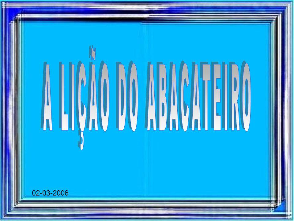 A LIÇÃO DO ABACATEIRO 02-03-2006