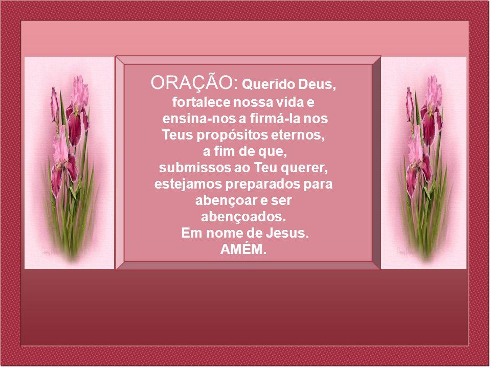 ORAÇÃO: Querido Deus, fortalece nossa vida e