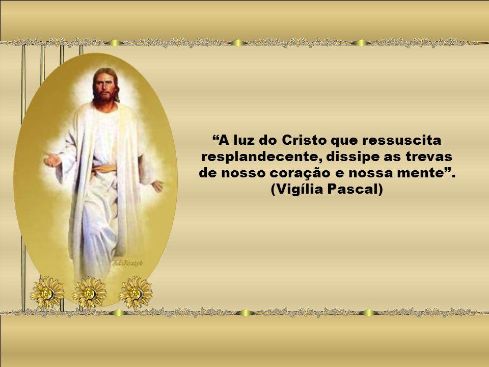 A luz do Cristo que ressuscita resplandecente, dissipe as trevas de nosso coração e nossa mente .