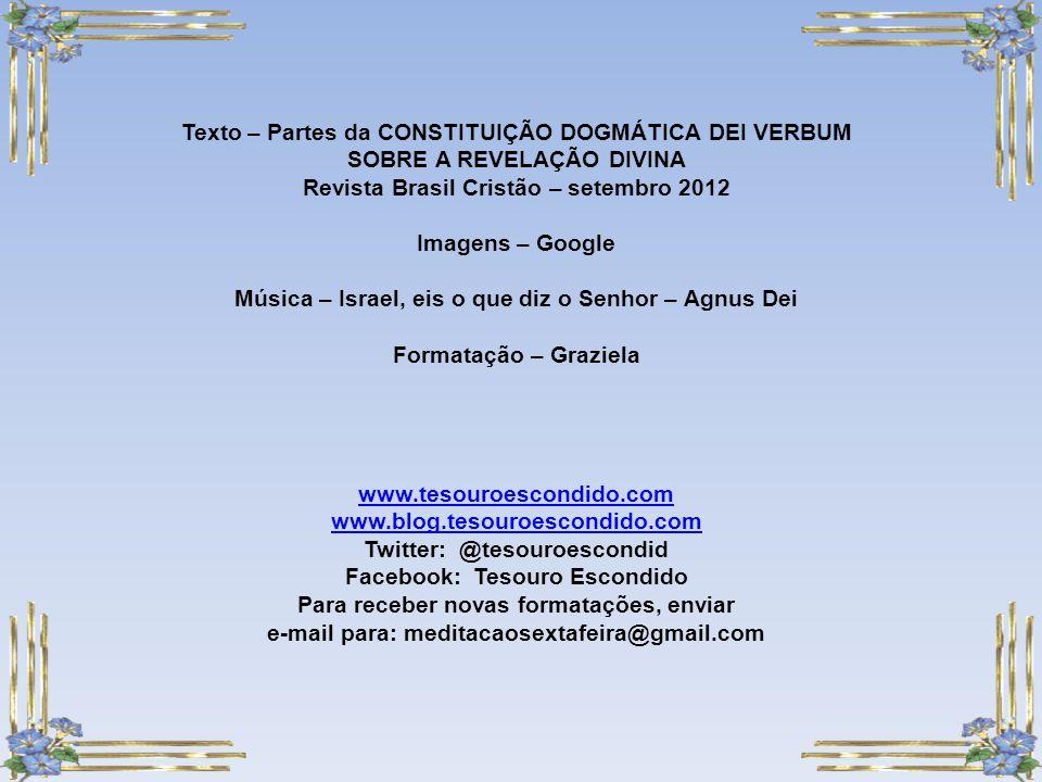 Texto – Partes da CONSTITUIÇÃO DOGMÁTICA DEI VERBUM