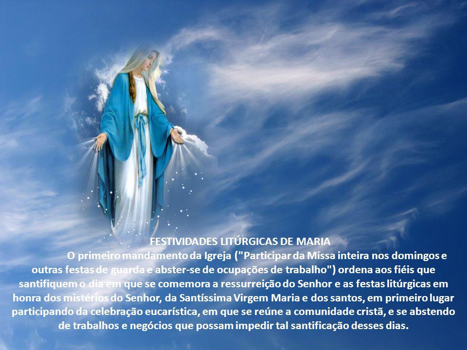 Festividades litúrgicas de Maria