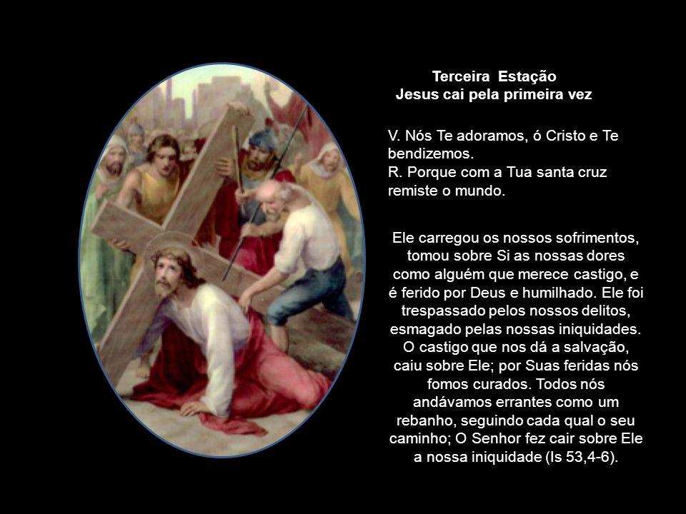 Jesus cai pela primeira vez