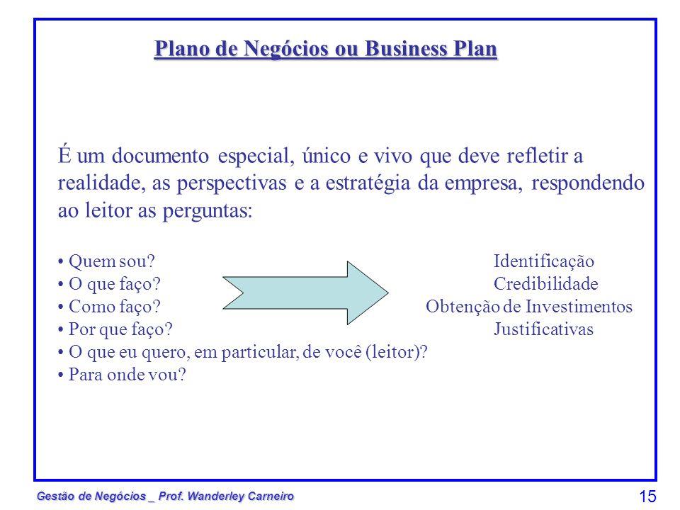 Plano de Negócios ou Business Plan