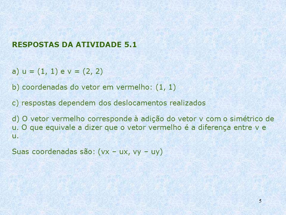 RESPOSTAS DA ATIVIDADE 5.1