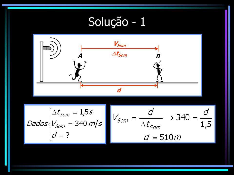 Solução - 1 A B VSom tSom d