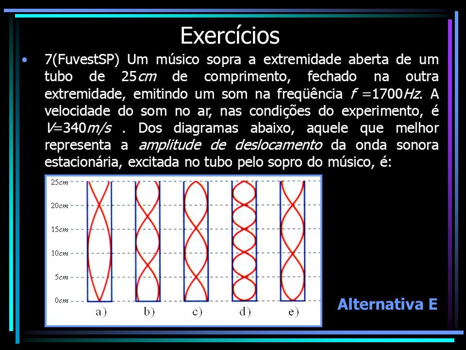Exercícios Alternativa E