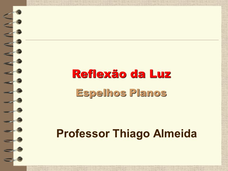 Professor Thiago Almeida