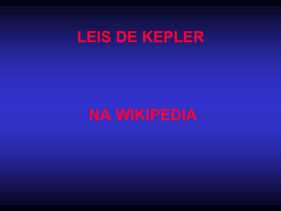 LEIS DE KEPLER NA WIKIPEDIA