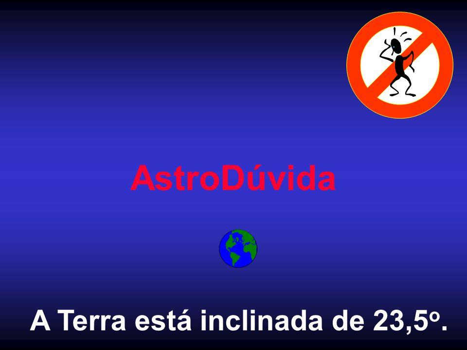 A Terra está inclinada de 23,5o.