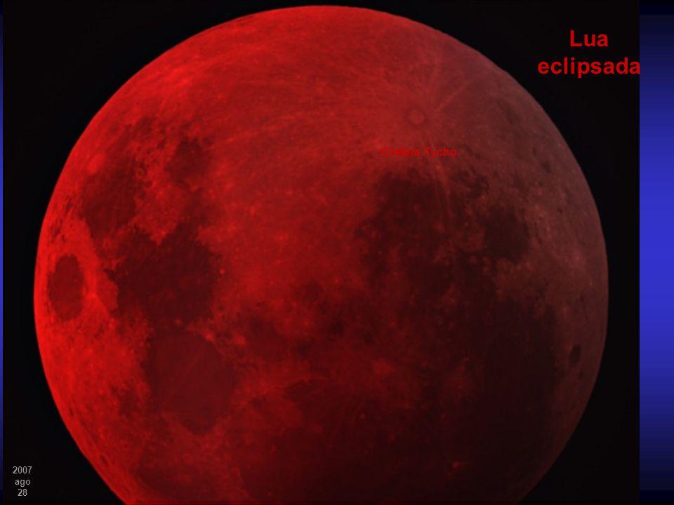 Lua eclipsada Cratera Tycho 2007 ago 28