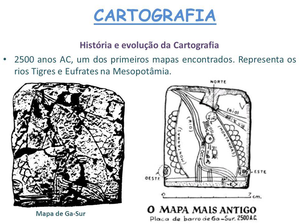 História e evolução da Cartografia