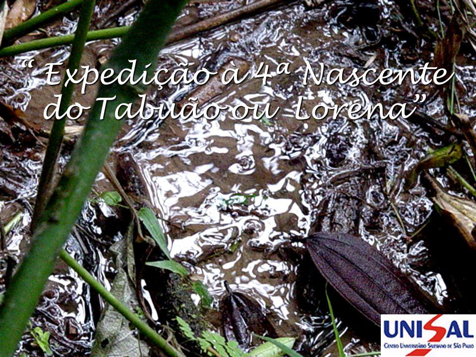 Expedição à 4ª Nascente do Tabuão ou Lorena