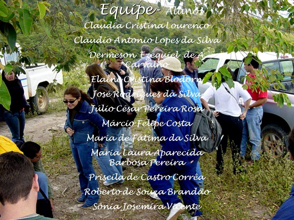 Equipe- Alunos Claudia Cristina Lourenço