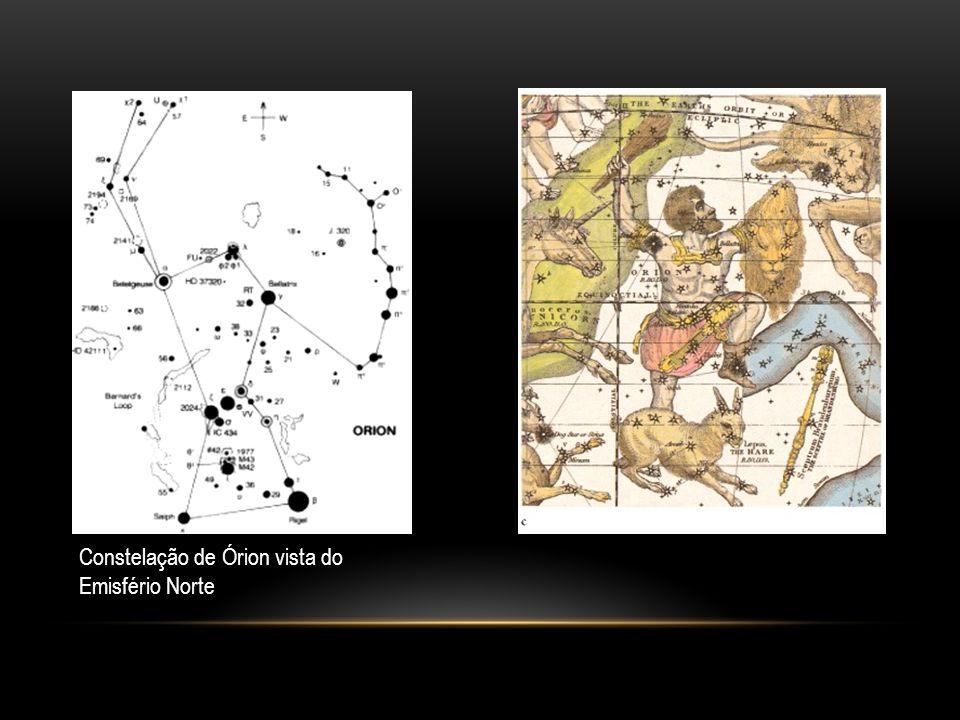 constelações Constelação de Órion vista do Emisfério Norte