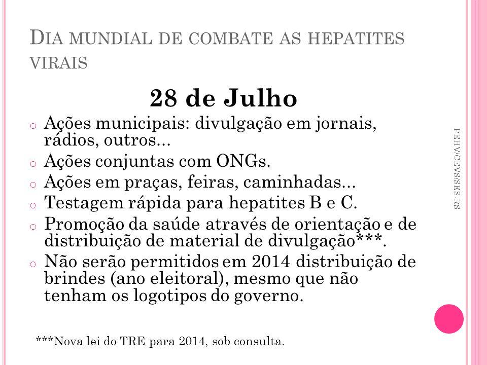 Dia mundial de combate as hepatites virais