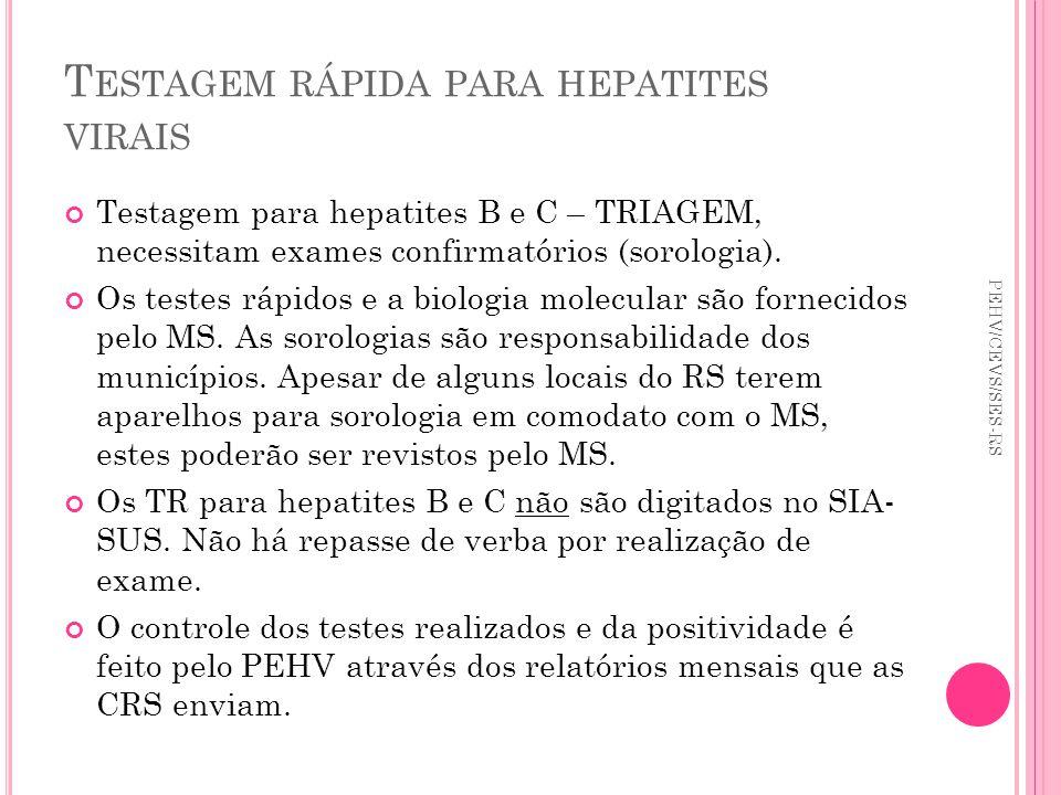 Testagem rápida para hepatites virais