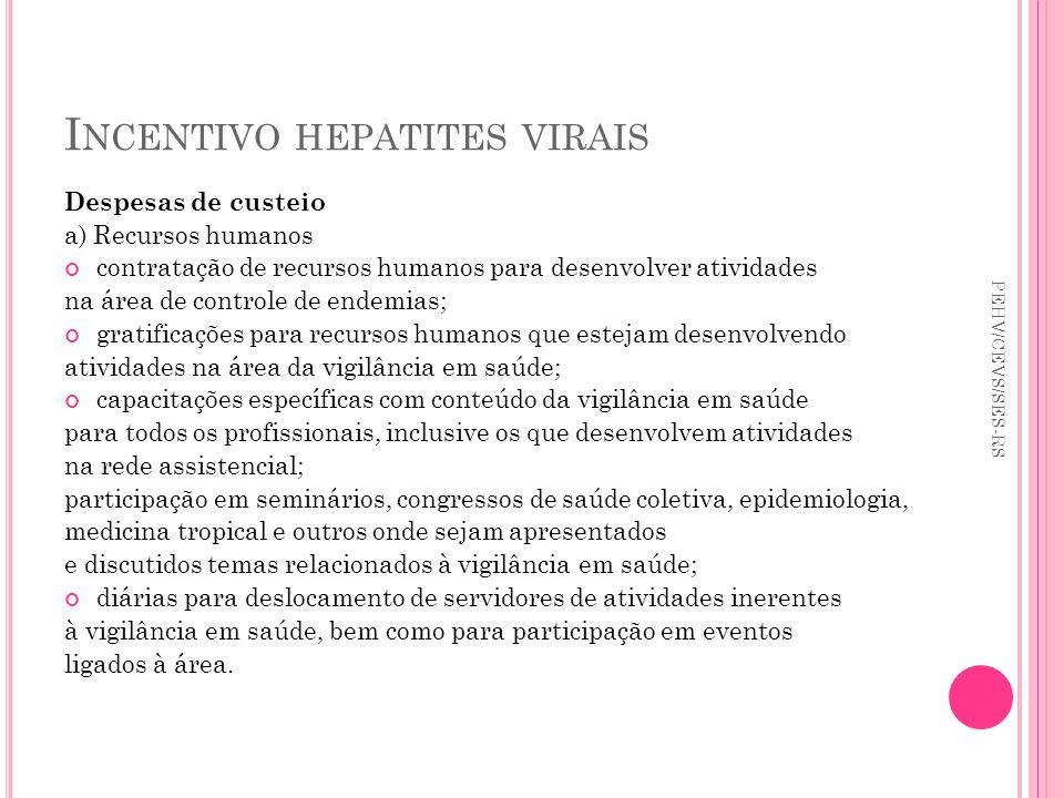 Incentivo hepatites virais