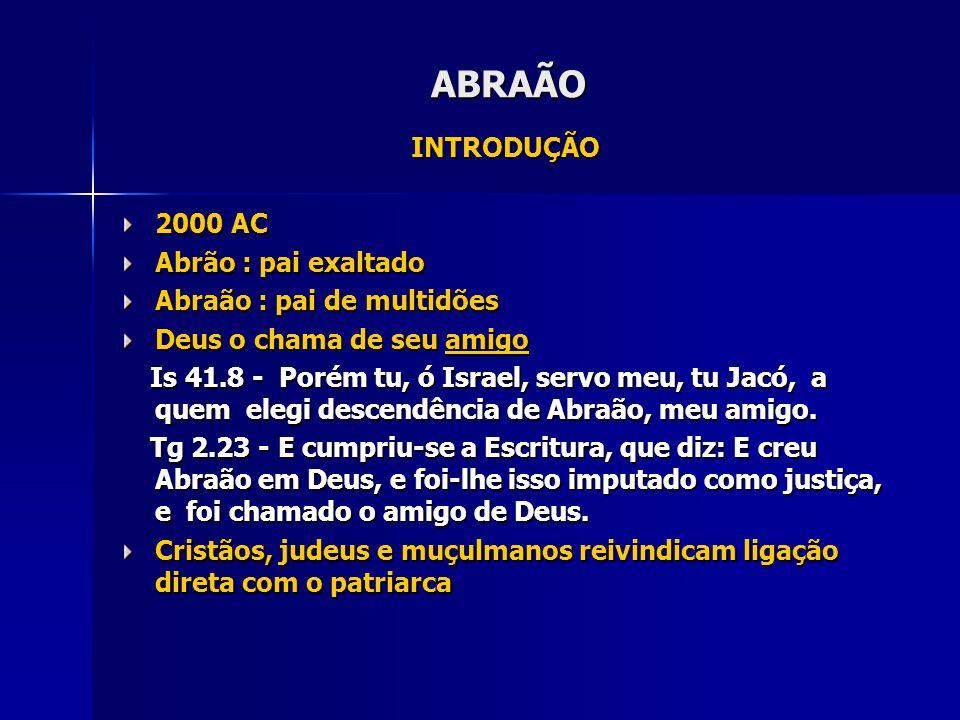 ABRAÃO INTRODUÇÃO 2000 AC Abrão : pai exaltado
