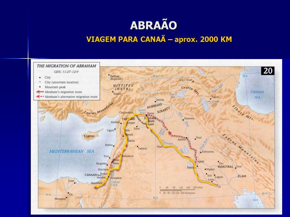VIAGEM PARA CANAÃ – aprox. 2000 KM