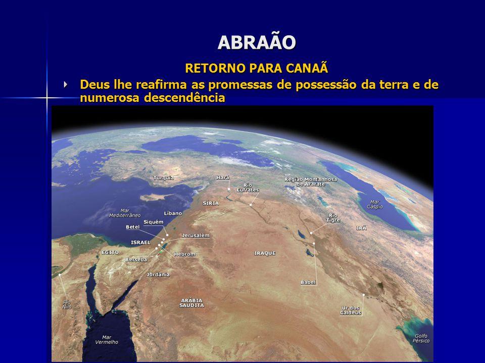 ABRAÃO RETORNO PARA CANAÃ