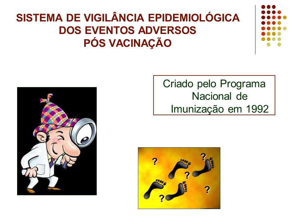 Criado pelo Programa Nacional de Imunização em 1992