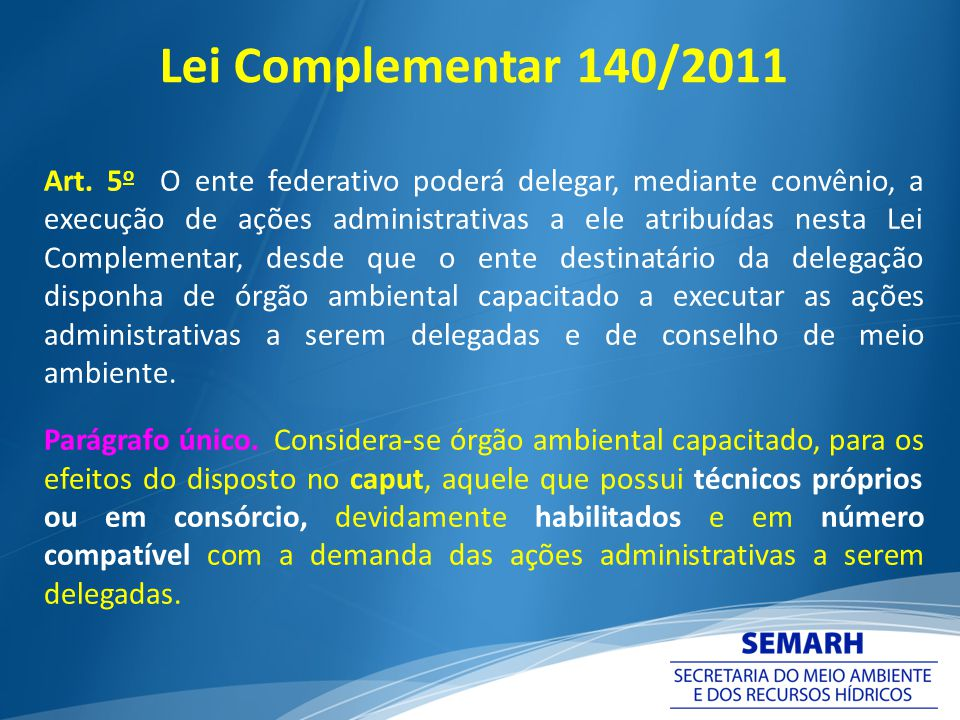 Lei Complementar 140/2011