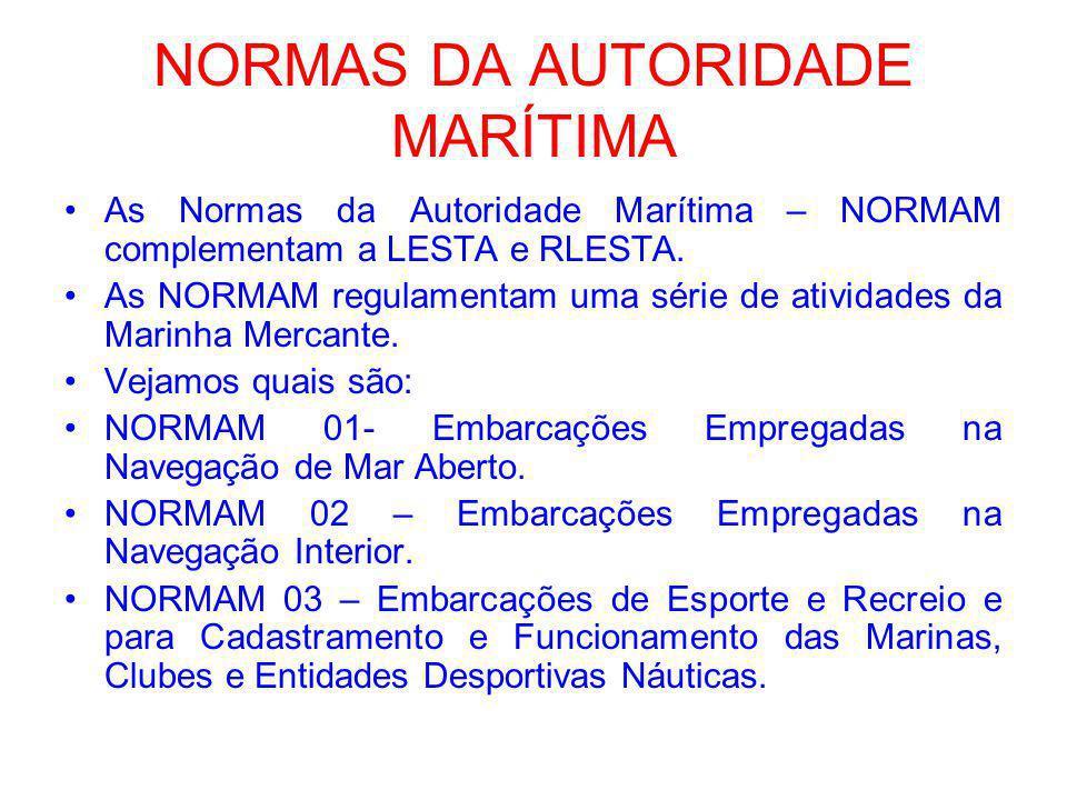 NORMAS DA AUTORIDADE MARÍTIMA