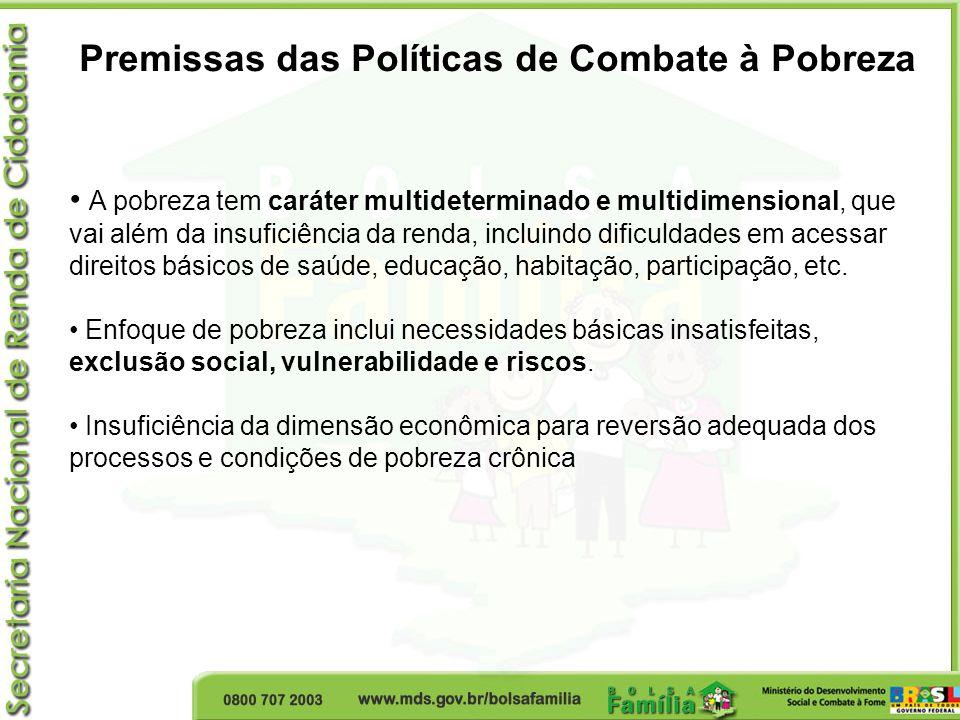 Premissas das Políticas de Combate à Pobreza