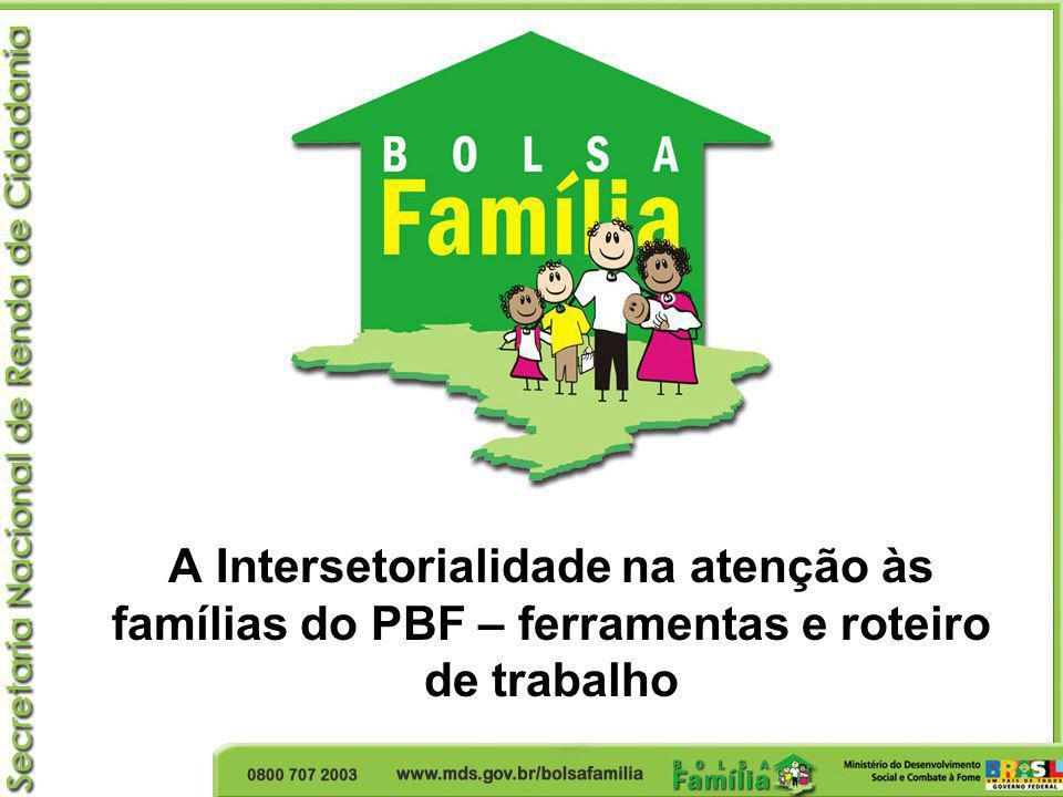 A Intersetorialidade na atenção às famílias do PBF – ferramentas e roteiro de trabalho