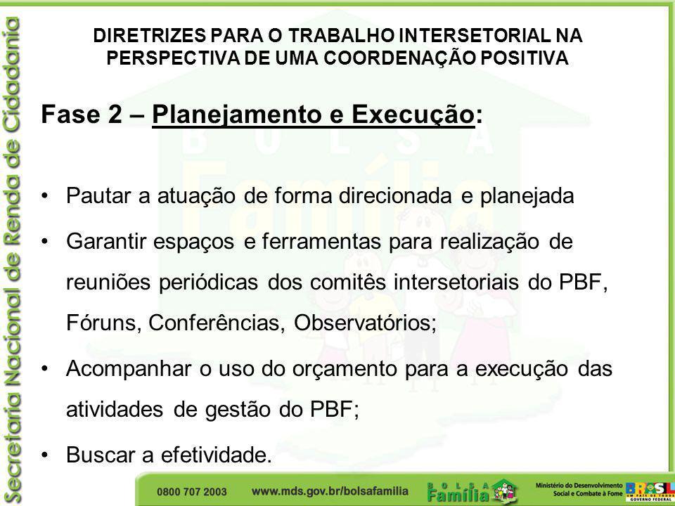 Fase 2 – Planejamento e Execução: