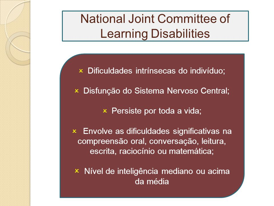 National Joint Committee of Learning Disabilities