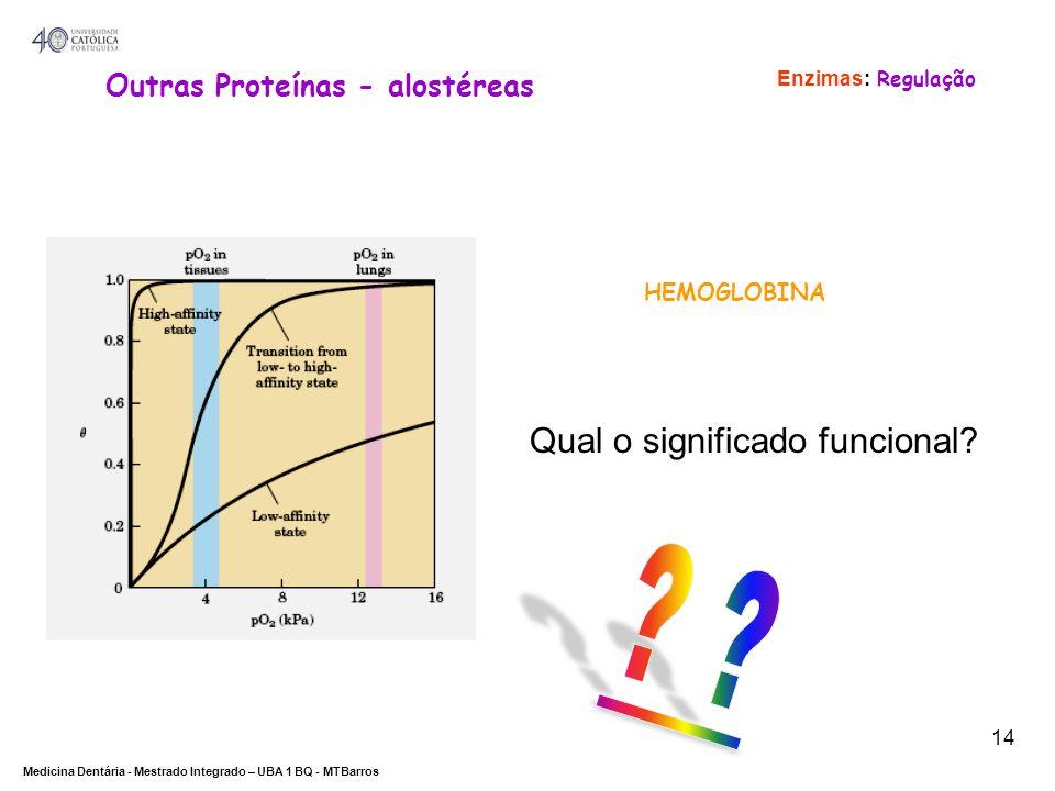 Qual o significado funcional Outras Proteínas - alostéreas