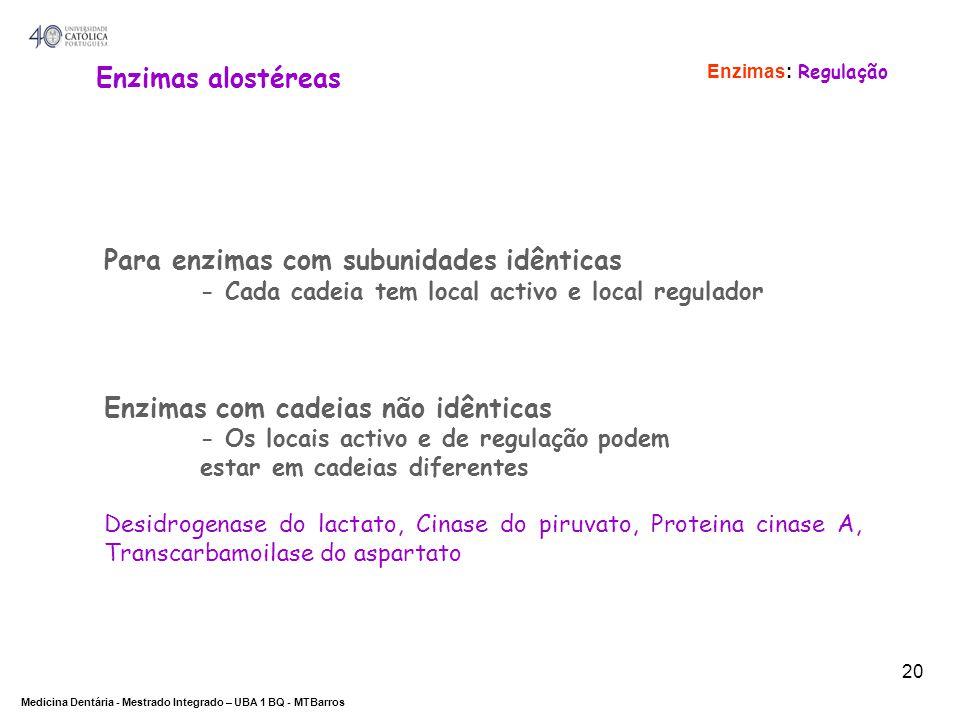 Para enzimas com subunidades idênticas