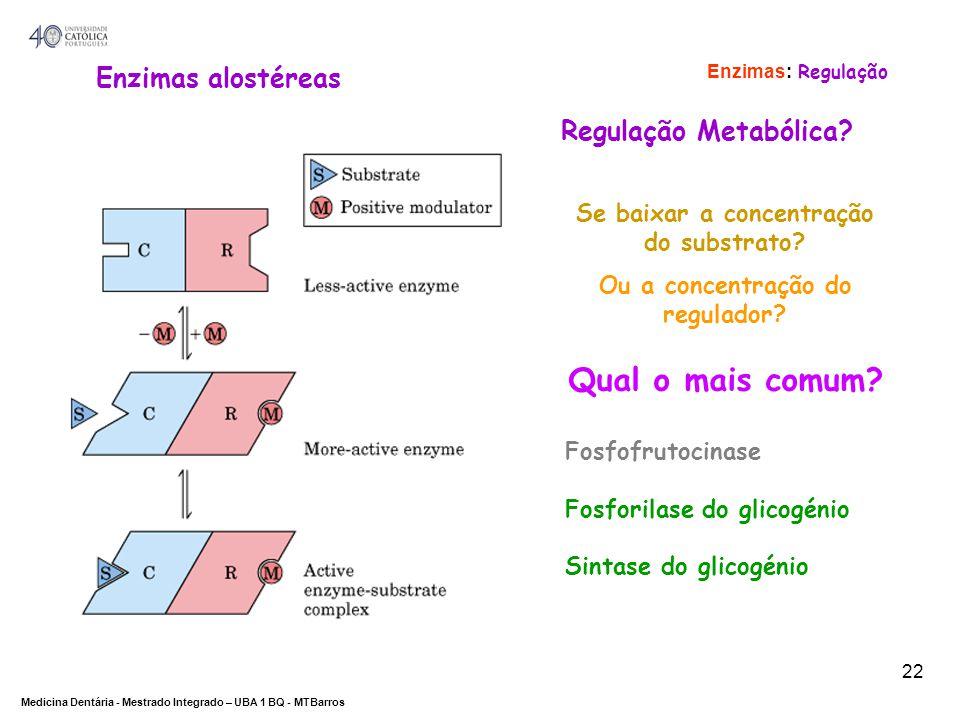 Se baixar a concentração do substrato Ou a concentração do regulador