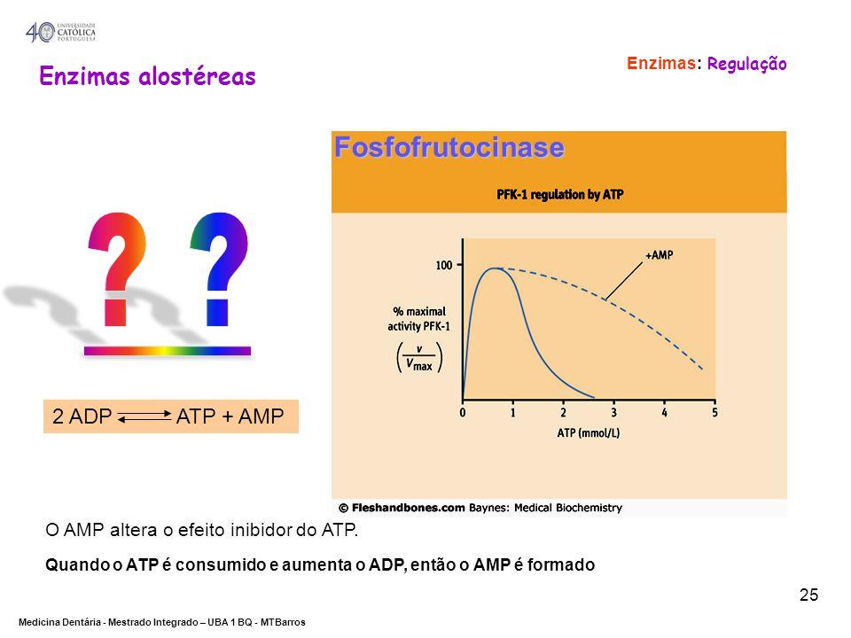 Fosfofrutocinase Enzimas alostéreas 2 ADP ATP + AMP