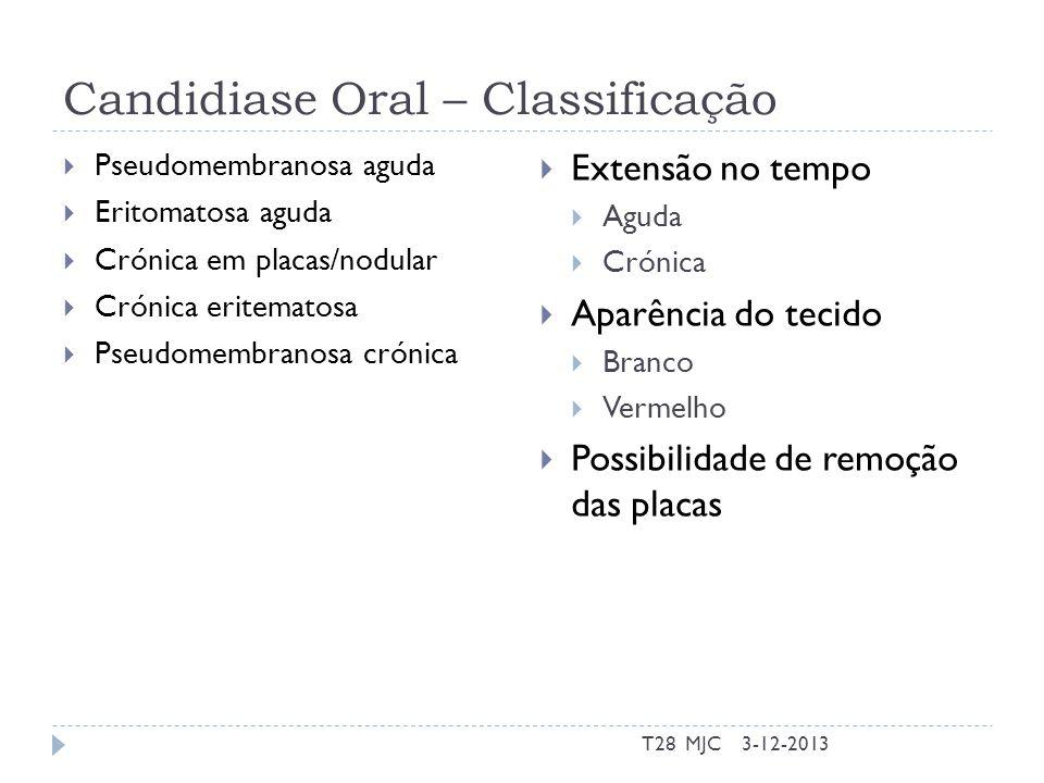 Candidiase Oral – Classificação