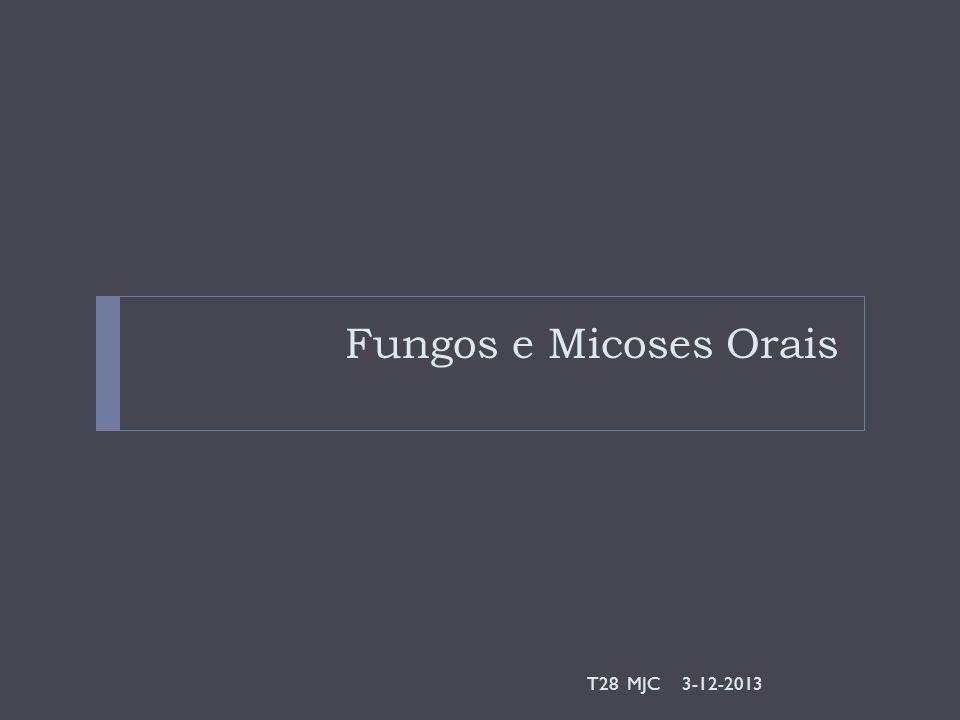 Fungos e Micoses Orais T28 MJC 3-12-2013