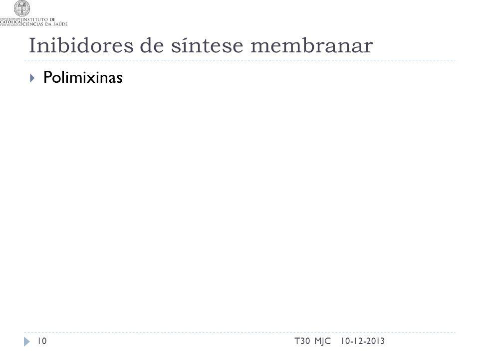 Inibidores de síntese membranar