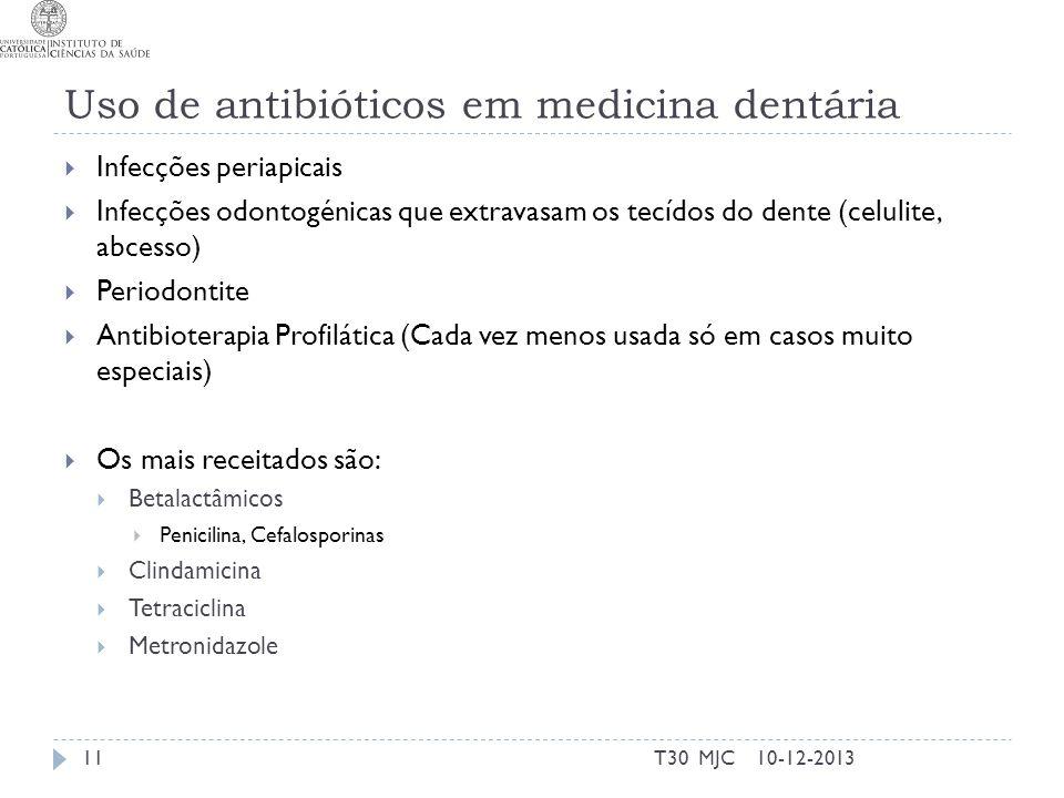 Uso de antibióticos em medicina dentária