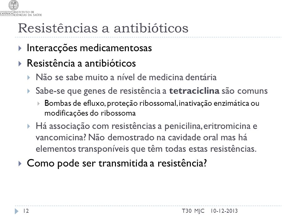 Resistências a antibióticos