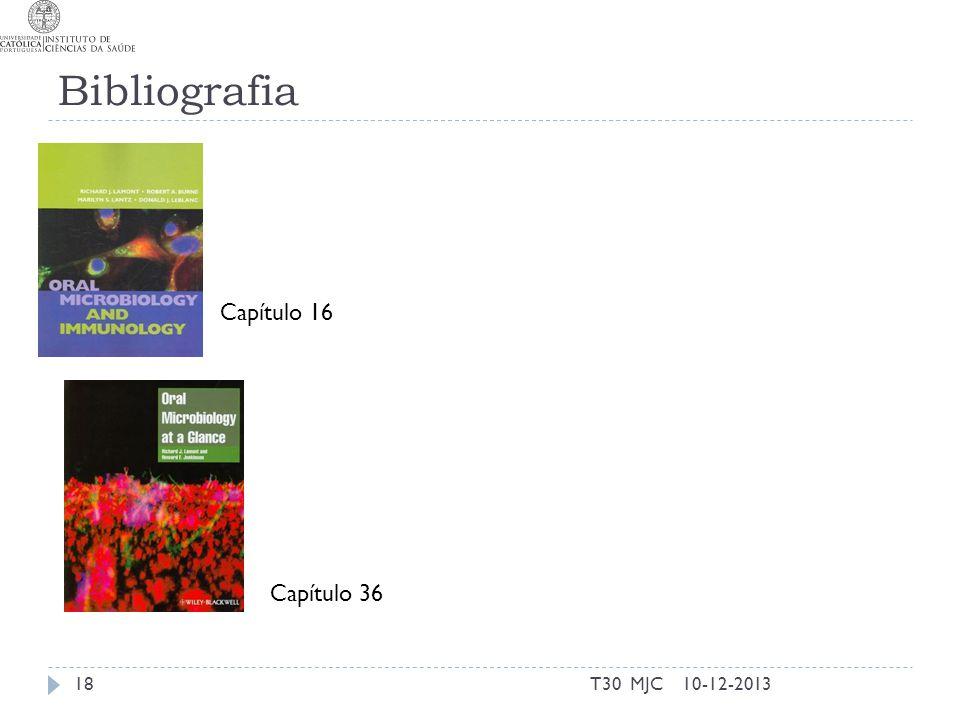 Bibliografia Capítulo 16 Capítulo 36 T30 MJC 10-12-2013